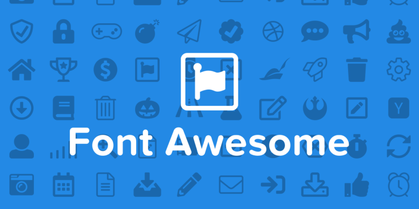 Font Awesome scalable icons