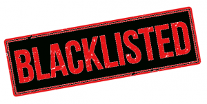 Blacklisted while building your own website