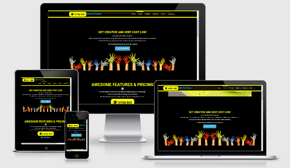Cartridge World - 1 of our portfolio page examples.