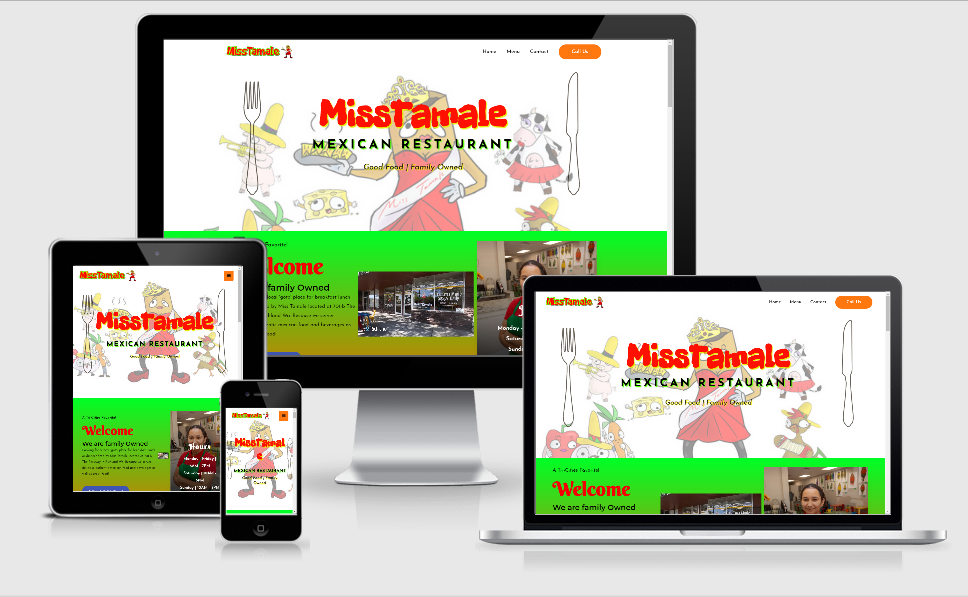 Miss Tamale - 1 of our portfolio page examples.