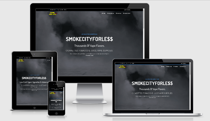 Smoke City For Less a portfolio page example.