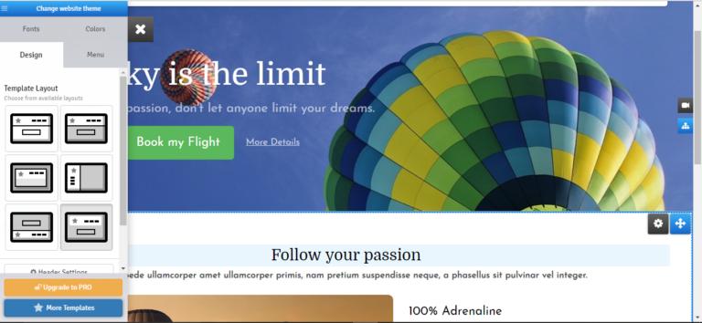 Simple stunning websites