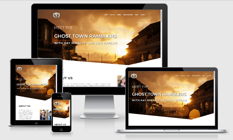 ghosttownramblers - 1 of our portfolio page examples.