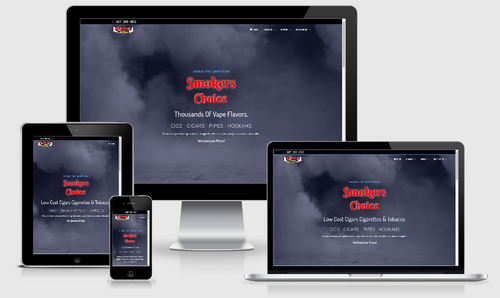 smokers choice - 1 of our portfolio page examples.