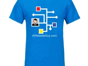 AWebsiteGuy neon blue tee shirt